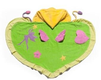 FREE PERSONALIZATION!  Embroidered Kidorable Fairy  Hooded Bath Towel, Kids bath towel,