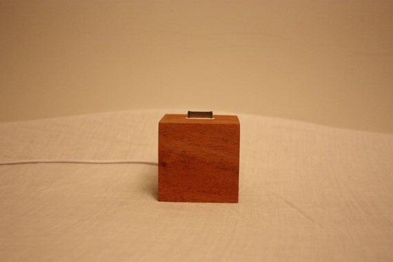 ipod/Iphone Dock made from Fijian Mahogany offcuts and finished in natural tung oil.