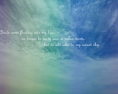 Colorful Sky Quote Photograph Print 5x7