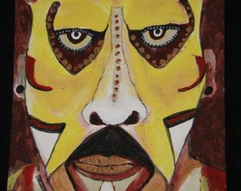 Original acrylic painting: Tribal Man