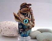 Lampwork Focal bead, Handmade sculptural shape 'Dragon' Reserved