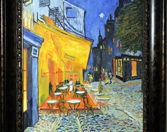 Replica of Van Gogh's Cafe Terrace, Place du Forum, Arles - 100% hand painted oil on canvas