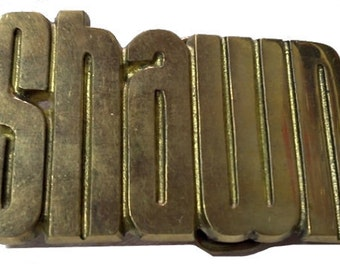 Vintage SHAWN Name Belt Buckle - Personalized