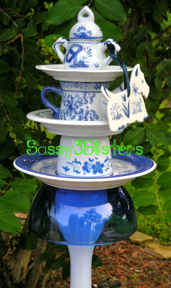 Items similar to Garden Yard Art, Garden Stake, Vintage ...