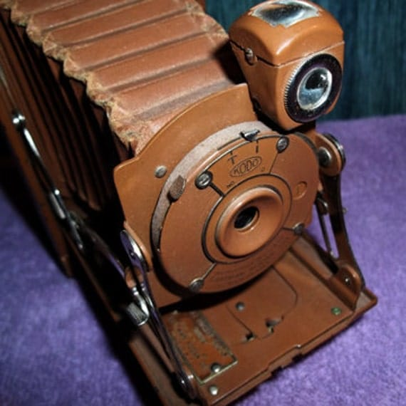 No. 1  Pocket Kodak Junior Camera in Brown Leatherette