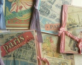 5 Paris Style All Occasion Handmade and Inked OOAK French Collage Cards....LeFrenchChateau