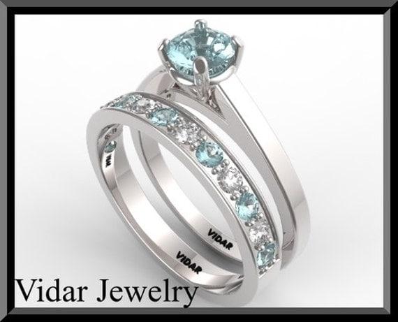 Aquamarine Wedding Ring Set 3 Stunning Baby blue wedding rings