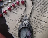 French inspired vintage assemblage statement necklace