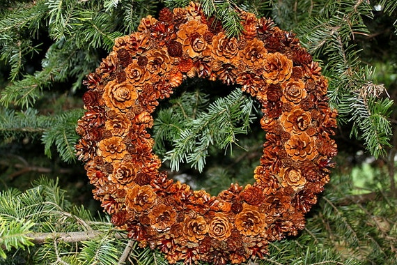 Adirondack Pine Cone Wreath