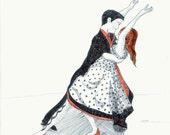 Rockabilly Couple Dancing 5x7 Print