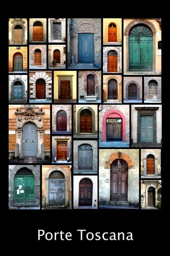 Porte Toscana (Doors of Tuscany) Collage Print (24x36)