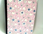 Girls School Journal - Composition Book - Pretty Rhinestone Flowers