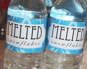 Melted Snowflakes Water Bottle Label Printable from Nutcracker Sweet Collection