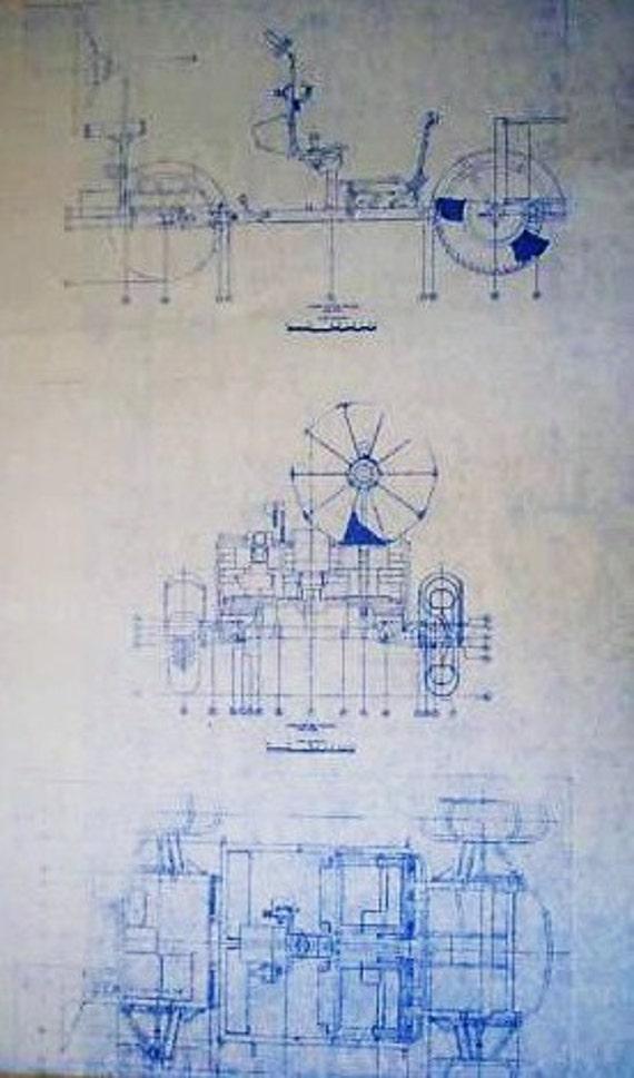 NASA Apollo Lunar Rover Blueprint by BlueprintPlace on Etsy