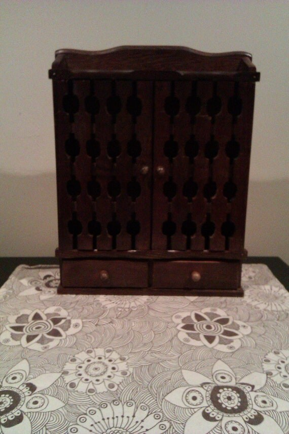 Wood Spice Rack Cabinet