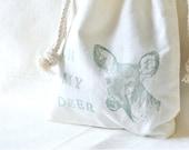 Drawstring Cotton Bag - Oh My Deer