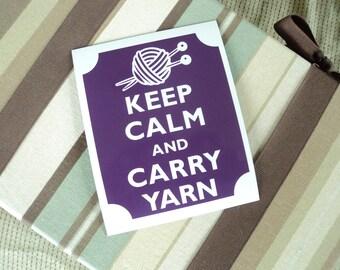 Keep calm carry yarn fridge magnet