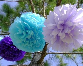20 Mini Tissue Paper Pom Poms