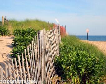 Fence on Beach No. 2 Photo 8 X 10