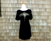 Organic Cotton/Hemp Graceful Henna Tunic - Black