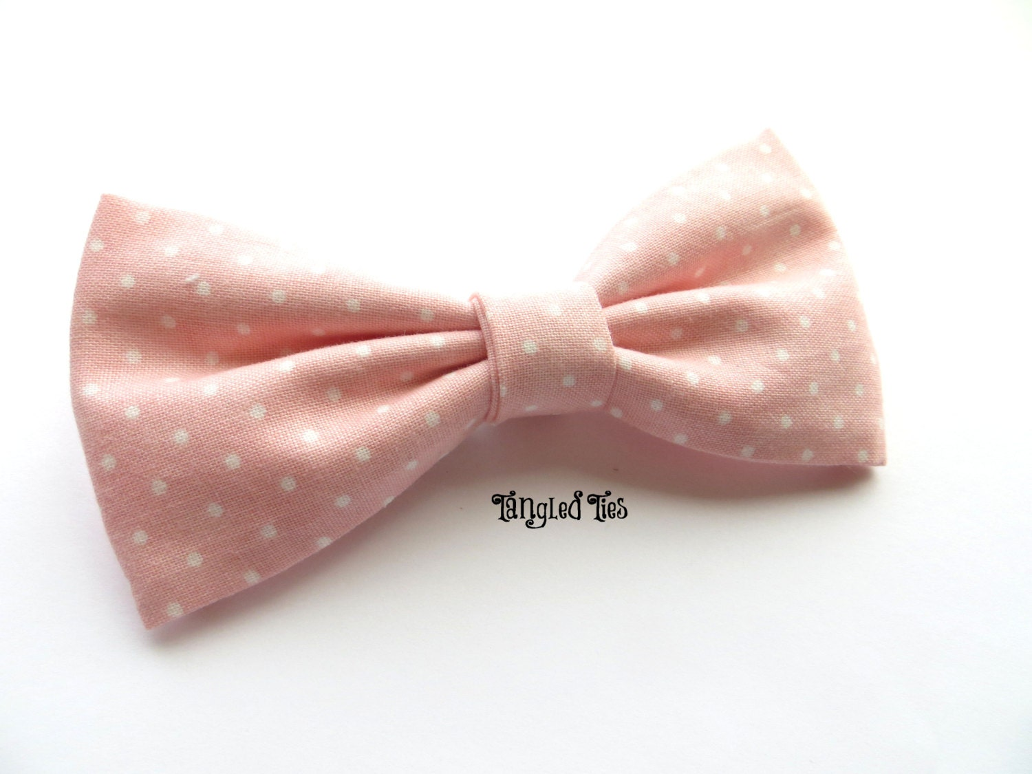 pink blush bow tie pink dotted bow tie blush polka dot bow tie