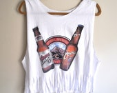 """cropped & fringed """"coors"""" beer tank"""