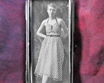 Woman Photo Pendant Vintage Summer Fashion Double Sided