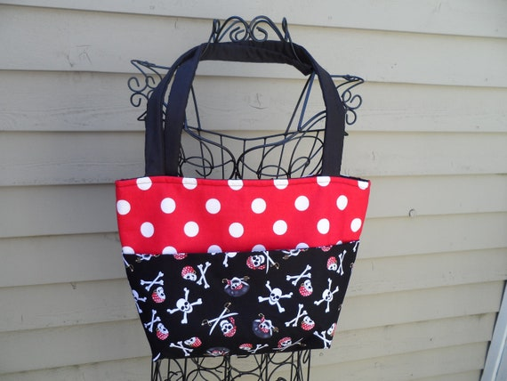 Sale Pirates and polka dots purse