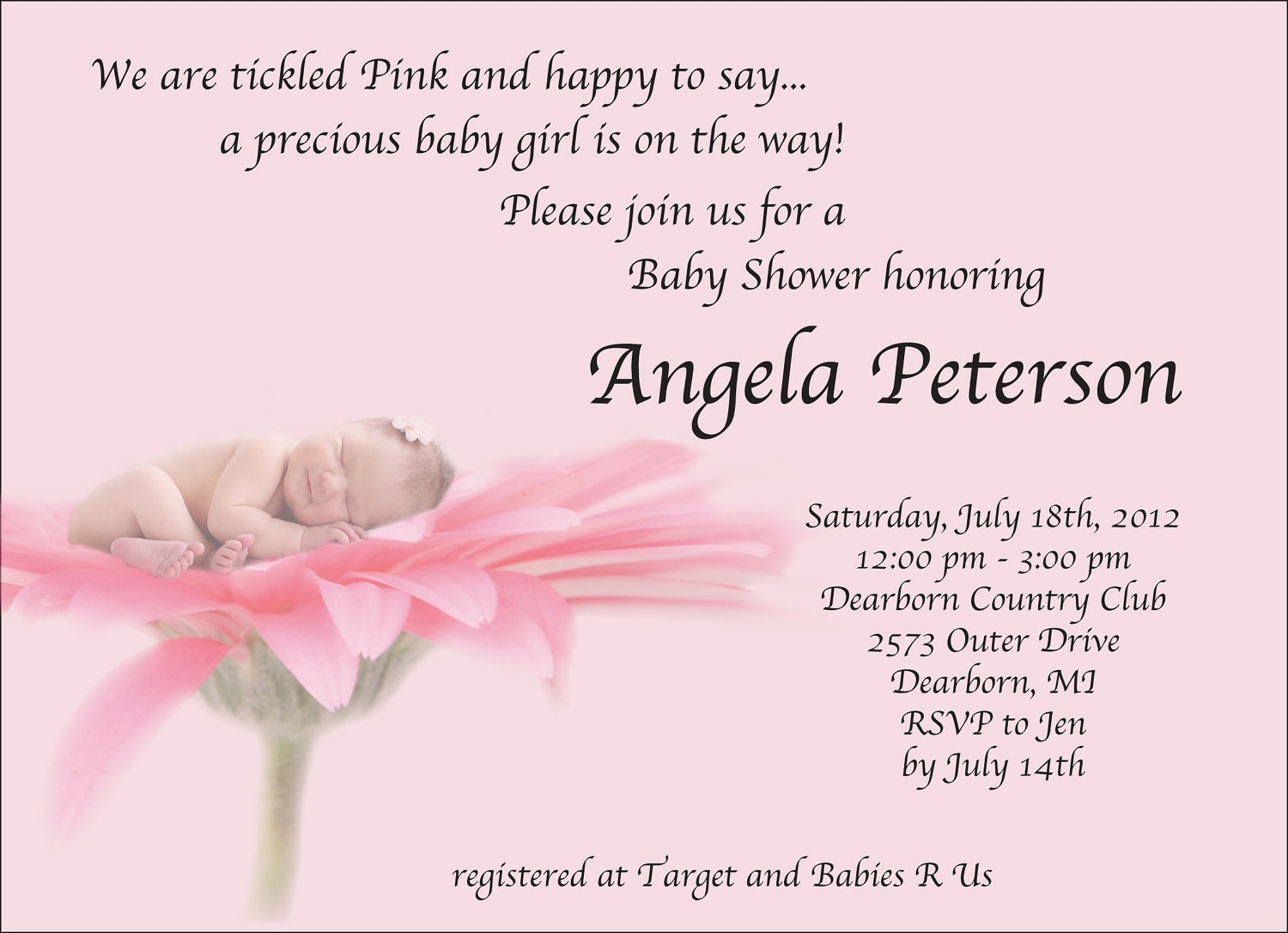 Baby Shower Invitation Wording For A Girl and get inspiration to create nice invitation ideas