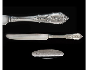 Vintage Sterling Silver Rose Point Wallace New French Hollow Handle Knife