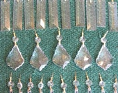 Chandelier Crystals 120 pc Crystal Ornaments Shabby Chic Hollywood Regency Chandelier Prisms