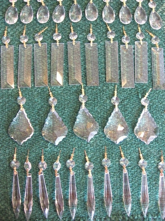 Chandelier crystals 120 pc crystal ornaments shabby chic aloadofball Choice Image