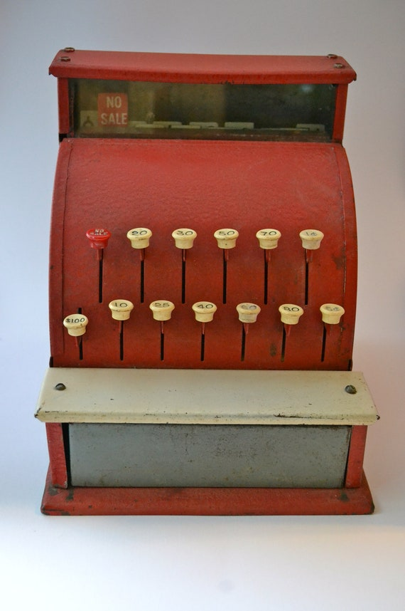 Toy Cash Register : Items similar to vintage toy cash register red on etsy