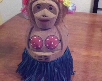 Hula Dancer with Grass Skirt