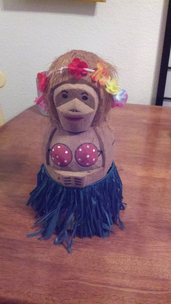 Hula Dancer with Grass Skirt