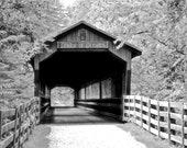 "Bridge of Dreams Black & White 5""x7"" Photo Greeting Card"