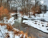 "Stream Winter & Snow 5""x7"" Photo Greeting Card"