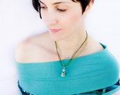 SALE Labradorite Gemstone Necklace - Painted vial necklace - Chakra necklace WAS 18 USD