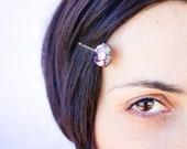 Gemstone hair pin - Amethyst, Ametrine, Quartz