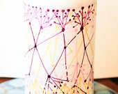 Neuron 1 - Handpainted Repurposed White Bottle Art Vase - Wine and Sunshine