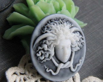 6 pcs of resin cameo 30mm round-RC0148-A grade
