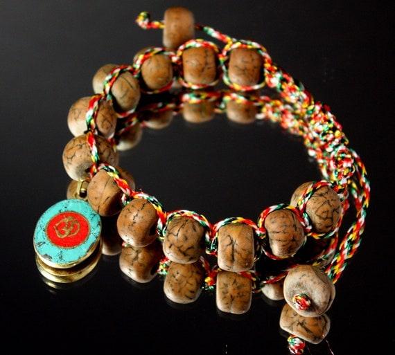 Bodhi Seed Shamballa Bracelet (Yoga Bracelet) Strung on Buddhist Prayer String