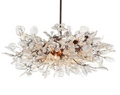 Hanging chandeliers. Natural flowers. - Flowersinlight