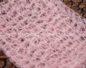 Conch Shell (baby pink) Mohair Wrap