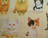 Michael Miller Kittens for Sale one yard OOP 100% Cotton Fabric