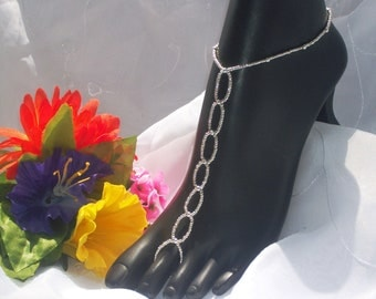 Silver Barefoot Sandal -  Foot Jewelry