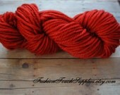 Bulky HandDyed Yarn, Brick Red 87 yrds, Thick Yarn, Knitting Supplies, Crochet Supplies