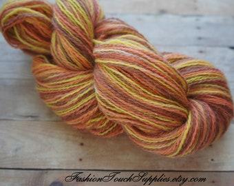 Sock Yarn Hand Painted Yarn in Shades of Orange and Yellow  306 yrds 003