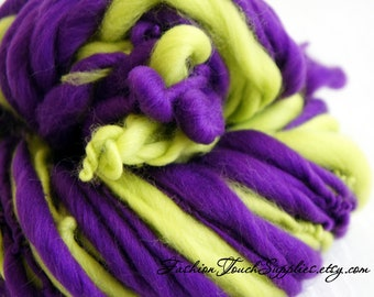 SALE: SUPER bulky Handspun yarn, Grapes, Super Bulky Thick and Thin Yarn, Art Yarn, knitting supplies crochet supplies