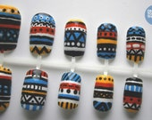 Tribal False Nail Art Set